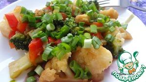 Готовим Брокколи и цветная капуста с соевым соусом пошаговый рецепт с фотографиями