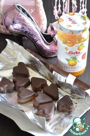 Рецепт Желейные конфетки в горьком шоколаде