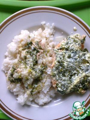 Рецепт Куриные грудки в чесночно-луковом сметанном соусе