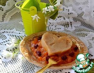 Яблочный пудинг под абрикосовым джемом домашний пошаговый рецепт с фото