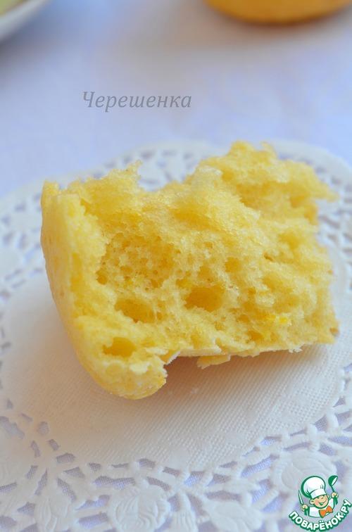 Кексы лимонные с пошаговым