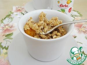 Рецепт Диетический абрикосовый крамбл с конфитюром