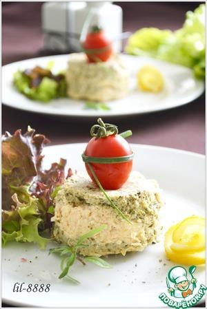 Рецепт Суфле из семги со шпинатом и творожным сыром