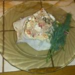 Рулет с тунцом и необычным соусом