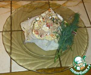 Рецепт Рулет с тунцом с нестандартным соусом-с Колбасным Сыром
