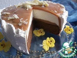 Рецепт Карамельный торт с ореховой нугой