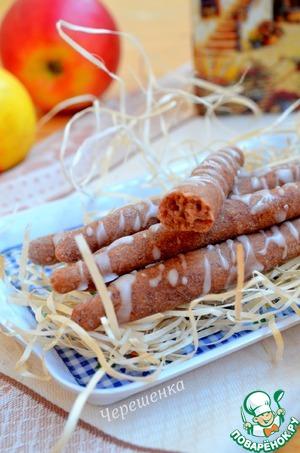 Рецепт Ореховые трубочки с фасолью и мандарином