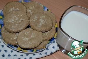 Рецепт Медовое овсяное печенье