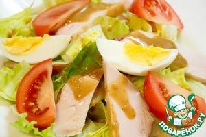 Рецепт Овощной салат с курицей и яйцом
