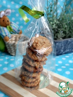 Рецепт Постное овсяное печенье с грецкими орехами