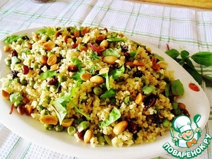Рецепт Булгур с зеленым горошком