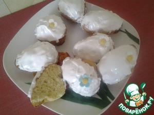 Рецепт Кексы домашние с лимонной цедрой