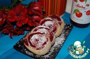 Рецепт Творожное печенье с вишнёвым конфитюром