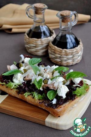 Рецепт Салат из печени трески с домашней рикоттой