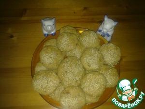 Рецепт Капустные пышки с кунжутом