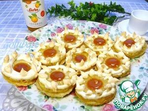 Рецепт Вкусное низкокалорийное пирожное с ананасом и конфитюром