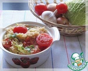 Рецепт Постный плов с савойской капустой