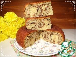 """Рецепт Лимонадный кекс """"Мраморный"""""""