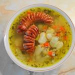 """Постный фасолевый суп """"с фишкой"""" (в мультиварке)"""