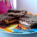 Шоколадная королевская ватрушка с начинкой