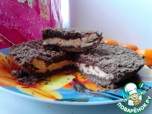 """Рецепт Шоколадная королевская ватрушка с начинкой """"Топлёное молоко"""""""