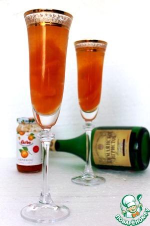 """Рецепт Десерт с шампанским """"Абрикосовый джаз"""""""