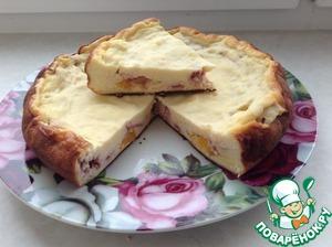 Рецепт Пирог творожный с фруктами в мультиварке