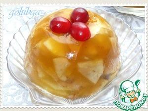 Рецепт Яблоки в абрикосовом желе