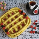 Постный пирог на тыкве с лимонной начинкой