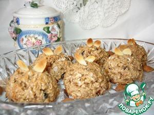 Рецепт Овсяно-миндальное печенье на кокосовом молоке