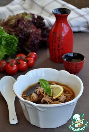 Суп из морепродуктов в восточном стиле простой пошаговый рецепт с фотографиями