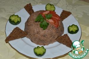 Рецепт Паштет из белой фасоли с чесноком и черносливом