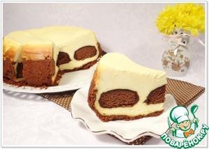 Рецепт Творожный чизкейк с шоколадными пряниками