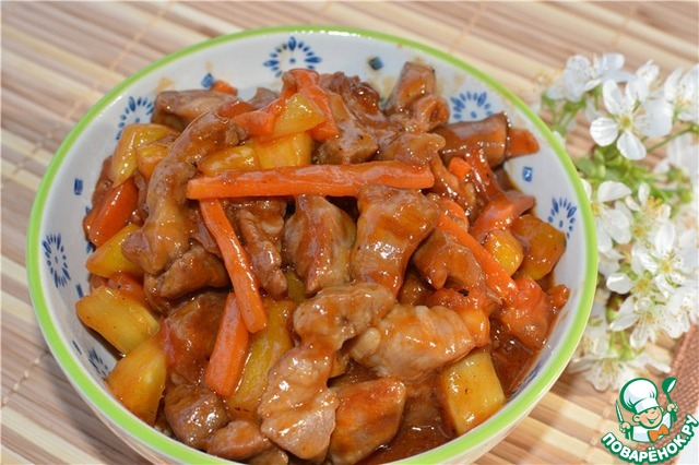 Свинина по азиатски рецепт с фото