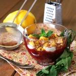Вишневый суп с творожными клецками