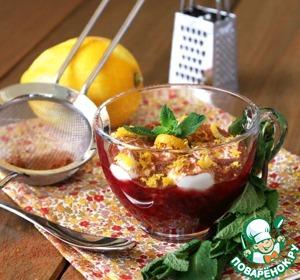 Рецепт Вишневый суп с творожными клецками