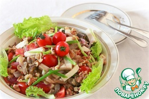 Рецепт Салат с баклажанами и овощами, приготовленными в мультиварке