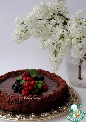 Рецепт Постный торт с кремом из кокосового молока и карамели