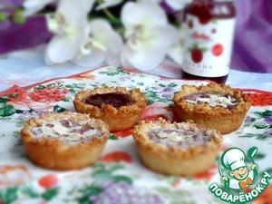 Рецепт Фасолевые корзиночки с творожно-малиновым кремом