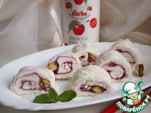 Рецепт Творожно-вишневые роллы в рисовой бумаге