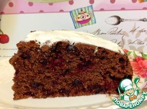 Рецепт Шоколадно-ягодный постный пирог