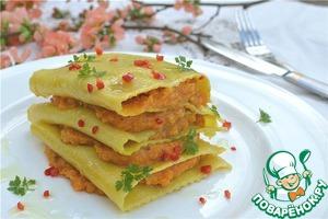 Рецепт Открытая лазанья с тыквой и пшеном