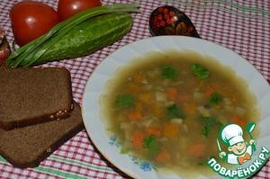 Рецепт Гороховый суп с чечевицей и копченой морковью