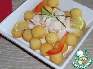 Рецепт Лосось с белым соусом