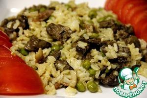 Рецепт Куриные сердечки с рисом