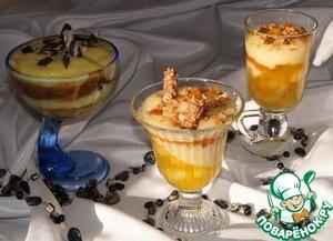 Рецепт Слоеный десерт с гранолой
