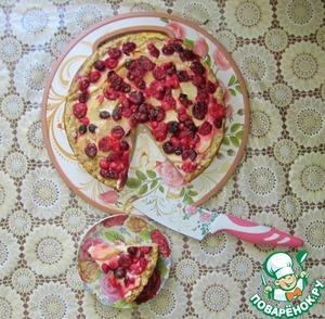 Рецепт Деревенский пирог с яблоками и клюквой