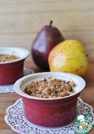 Рецепт Постный фруктовый крамбл