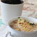 Грибной суп с трюфельным маслом и пармезановыми чипсами
