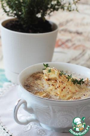 Рецепт Грибной суп с трюфельным маслом и пармезановыми чипсами